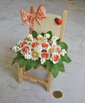 mini-sedia in legno