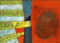 Marienkäfer, Öl auf Leinwand,1,10 m x 1,50 m, 1992