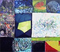 o.T., Öl auf Leinwand, 1,45 m x 1,65 m, 1994