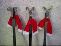 Widder, Steinbock, Esel für eine Weihnachtsgrußkarte