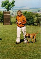Rudi bei seiner Begleithundeprüfung im Mai 2006