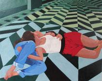 """""""Adam et Eve"""", 2013, 30x24, tempera sur bois ©"""