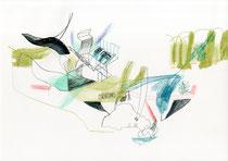 o. T. (Tanne) . 2015 .  Mischtechnik auf Papier . 29,7 x 42 cm