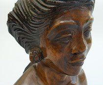 Item #DUT0001: Wooden statue, Bali, early 1900's