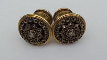 Item #IND0027 Java javanese ear plugs earplugs jewelry  stones gold