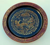 Item #IND0021 lacquer bowl palembang sumatra art antique lakwerk schaal chinees chinese