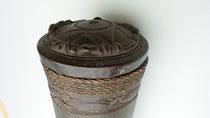 Item #TRI0025 toebang pering bamboo storage container tube box dajak dayak dyak central borneo kayan apo kayan