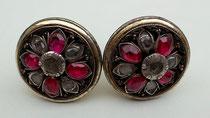 Item #IND0026 Java javanese ear plugs earplugs jewelry  stones silver
