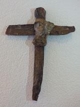 """""""Creu"""" - Bronze und Versteinertes Holz, Aesch"""