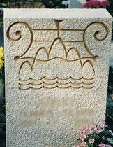 Lápida sepulcral en el cementerio de Basel - Piedra
