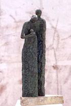 """""""Mitfühlen, nachher"""" - Bronze, 37cm"""