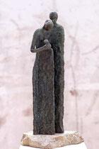 """""""Mitfühlen, vorher"""" - Bronze, 37cm"""