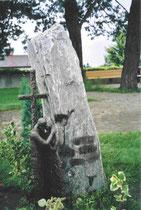 Grabstein auf dem Friedhof Aesch - Bronze