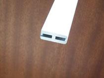 Verbindungsprofil aus Aluminium für die beiden Stahlwandenden.