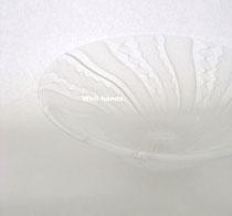レースガラス 皿 ホワイト