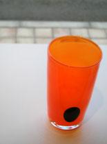 ストレート色花瓶 オレンジ