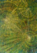 """Ohne Titel"" Acryl mit Spachtelmasse auf Leinwand , 100x80 cm"