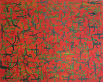 """""""Vielseitigkeit der Menschen IV"""" Acryl mit Struktur auf Leinwand, 80x60 cm"""