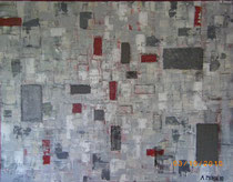 """Ohne Titel"" Acryl auf Leinwand, 100x120 cm"