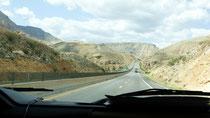 Sur l'autoroute entre St George et Las Vegas (LV)