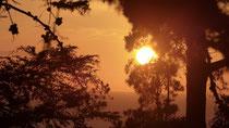 Coucher de soleil sur l'Océan, vu du RV