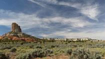 Paysage sur la route de Page à Monument Valley