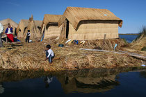 Pérou, Lac Titicaca, iles Uros