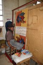 Lésotho, tissage artisanal dans une coopérative gérée par des femmes