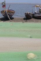 Sénégal filet de pêche sur l'île de fadiouth
