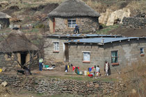 Lésotho, village de montagne