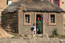 Lésotho, maison traditionnelle