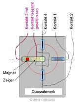 Timerschaltung mit Quarzuhrwerk Funktion