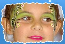 аква грим флористика