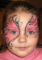 аква грим бабочка