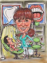 шарж по фото стоматолог