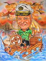 шарж по фото капитан дальнего плавания