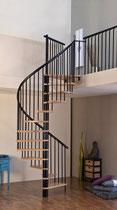 Kappa escalier en spirale avec garde-corps étage
