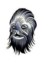 """Chewbacca"" Illustration gemalt von Burns Seiken"
