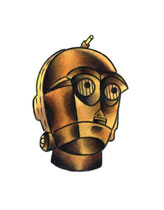 """C3po"" Illustration gemalt von Burns Seiken"