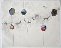Graphit/Collage auf Washi, 25x32 cm, 2019