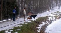 Micha und Claudi mit Murphy und Casy warten auf uns!