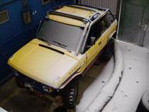 Schnee im Winterlager