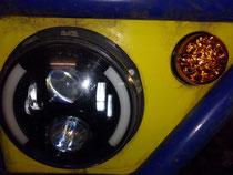 Wasserdichte LED Blinker eingebaut