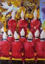 2011 - Confronti di Santa Ragione - olio a spatola su tela - 70x50 - Opera segnalata al Concorso Art&Immagine Feste Vigiliane Trento ed. 2011