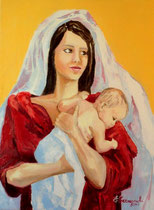 2011 - Madre - olio a spatola su tela - 70x50 cm