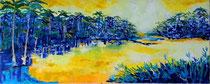VA PENSIERO - olio a spatola su tela - 40X100 cm - 2016 - collezione privata
