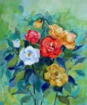 2010 - Rose - olio su tela - 50x40 cm