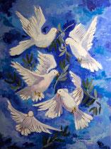 2012 - Danza della pace - olio a spatola su tela - 80x60 cm