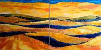 SOLSTIZIO D'ESTATE - Dittico - olio a spatola su tela - 60x120 - 2014 - collezione privata