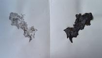 Serie Huellas de papel 07 - 26x45,5(22,7) cm